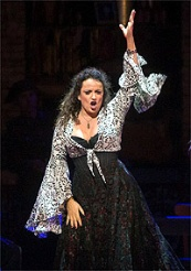 Clementine Margaine in the title role in Bizets Carmen © Photo by Marty Sohl / Metropolitan Opera