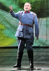 Javier Camarena as Tonio in Donizettis La Fille du Regiment © Photo by Ken Howard / Met Opera